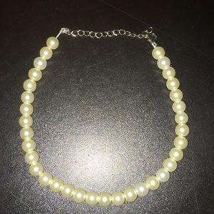 beautiful white pearl handmade choker